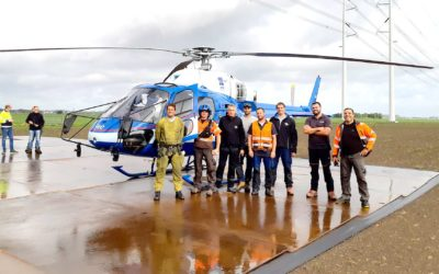 The Netherlands introduce high-voltage maintenance by helicopter